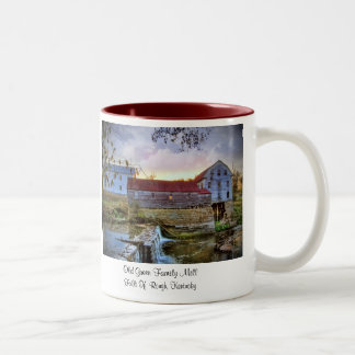 """Old Green Family Mill"" Two-Tone Coffee Mug"