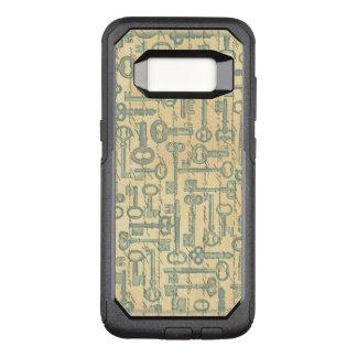 Old Green Keys Victorian Aged Words Illustration OtterBox Commuter Samsung Galaxy S8 Case