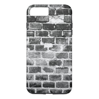 Old Grey Weathered Brick Wall Texture iPhone 7 Plus Case