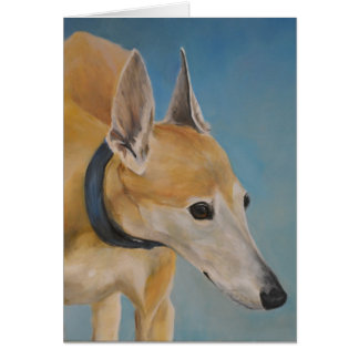 Old Greyhound Dog Art Note Card