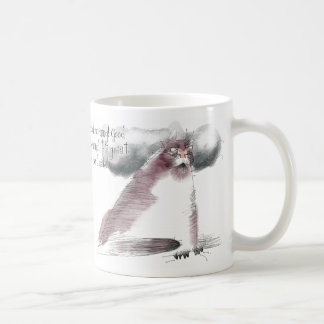 Old grouchy cat good morning coffee mugs