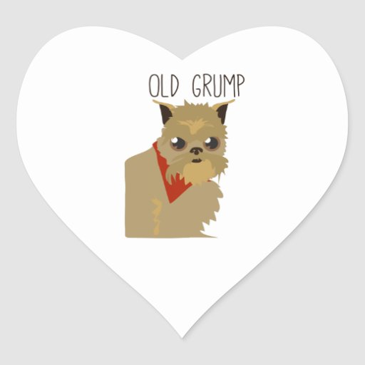 Old Grump Heart Stickers