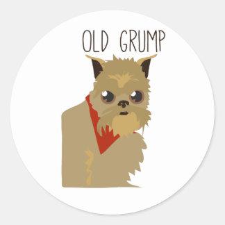 Old Grump Round Sticker