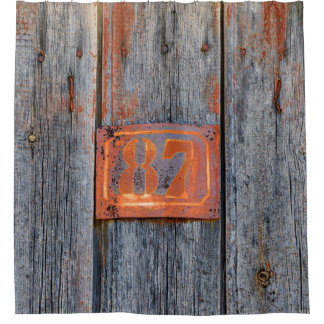 Old Grunge Rusty Metal House Number 87 Photo - Tub