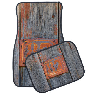 Old Grunge Rusty Metal House Number No. 87 Photo - Car Mat
