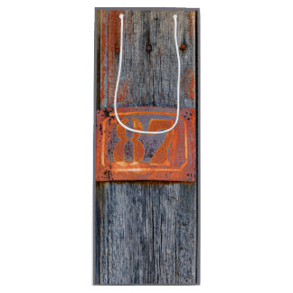 Old Grunge Rusty Metal House Number No. 87 Photo Wine Gift Bag