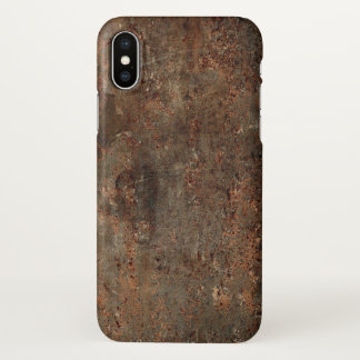 Old Grungy Leather Print iPhone X Case