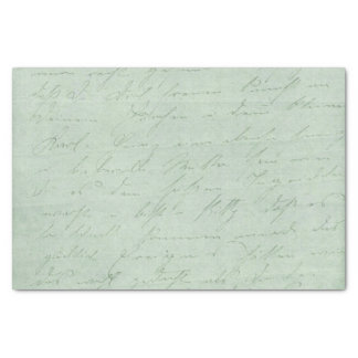 """Old handwriting love letters faded antique script 10"""" x 15"""" tissue paper"""