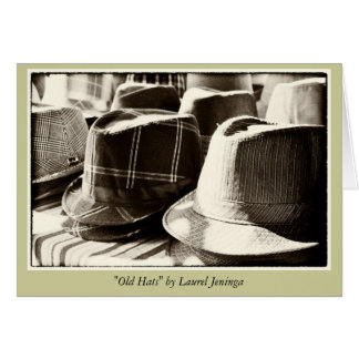 Old Hats Blank Greeting Card