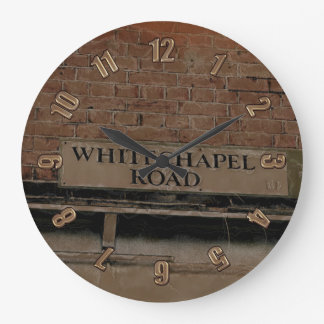 Old Haunts - Whitechapel Road, London Large Clock