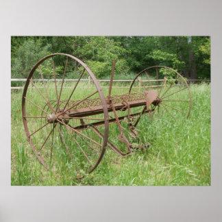 Old hay rake 2 poster