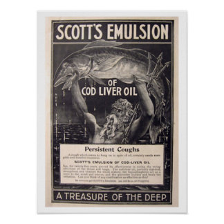 Old Health Poster - Cod Liver Oil