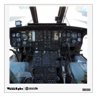 Old helicopter cockpit wall decal