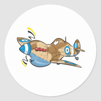 old hellenic royal air force spitfire classic round sticker