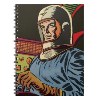 Old hero from the future spiral notebook