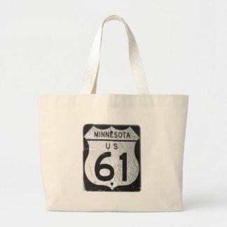 Old Highway 61 sign Bag