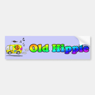 Old Hippie Bus Bumper Sticker