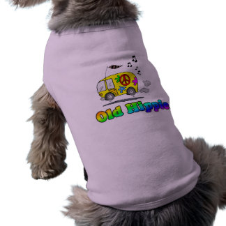 Old Hippie Bus Pet Tshirt