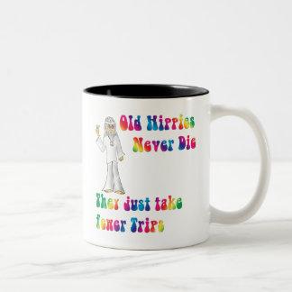 Old Hippies Two-Tone Coffee Mug