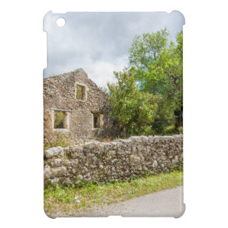 Old historic house as ruins along road case for the iPad mini