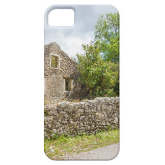 Old historic house as ruins along road iPhone 5 covers