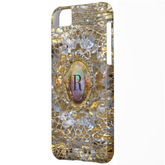 Old Hollywood Chic Elegant Monogram Case For iPhone 5C