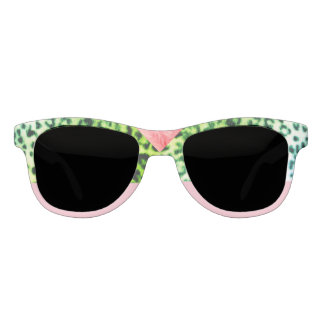 Old Hollywood Emerald Leopard Statement Sunglasses