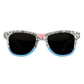 Old Hollywood Leopard Electro Blue Statement Sunglasses