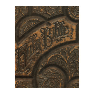 Old holy bible wood wall decor