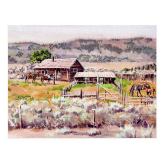 OLD HOMESTEAD by SHARON SHARPE Postcard