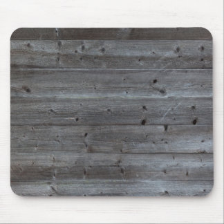 Old horizontal black plank wall mouse pad