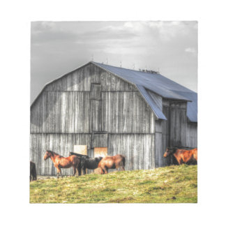 old horse barn notepads