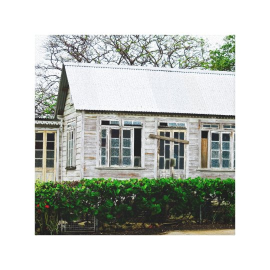 Old House - Barbados WI - Canvas Art
