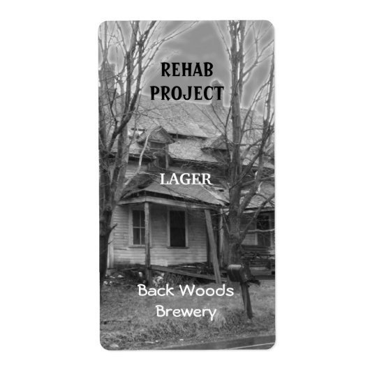 Old House ~ Beer Label Shipping Label