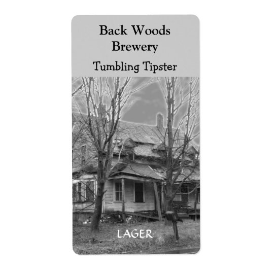 Old House ~ Beer Wine Label Shipping Label