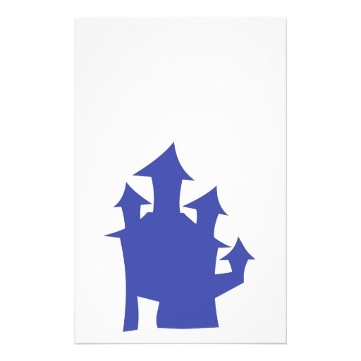 Old House. Deep Blue. Personalized Flyer