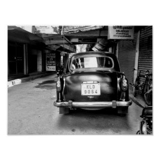 Old Indian Car Poster