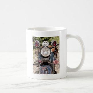 old Indian Harley-Davidson Police Motorcycle Basic White Mug