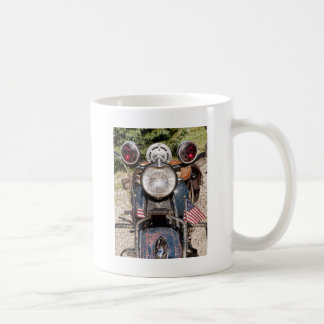 old Indian Harley-Davidson Police Motorcycle Classic White Coffee Mug
