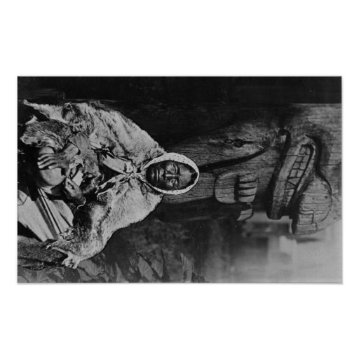 Old Indian Witch Doctor in Alaska Photograph Posters