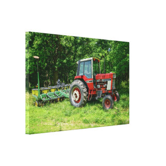 Old International Tractor Canvas Print
