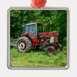 Old International Tractor Metal Ornament