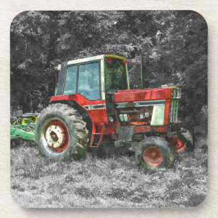 Old International Tractor Painterly Coaster