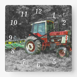 Old International Tractor Painterly Wallclocks