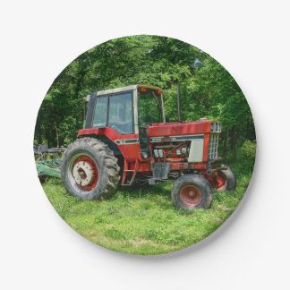 Old International Tractor Paper Plate