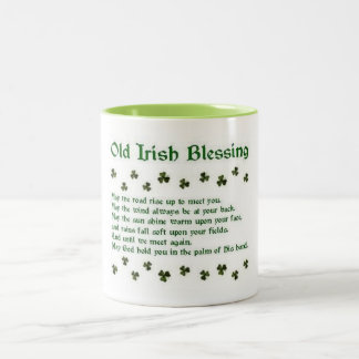 Old Irish Blessing © By Mary Lee Parker 14 Two-Tone Coffee Mug
