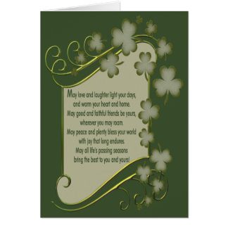Old Irish Blessing Card