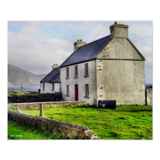 Old Irish Farmhouse Print