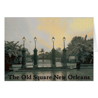 Old Jackson Square New Orleans Card
