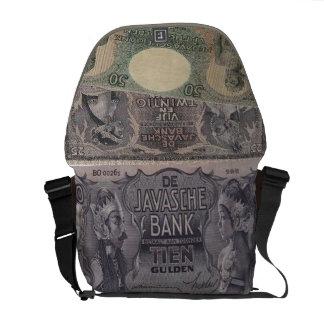 Old java art messenger bag